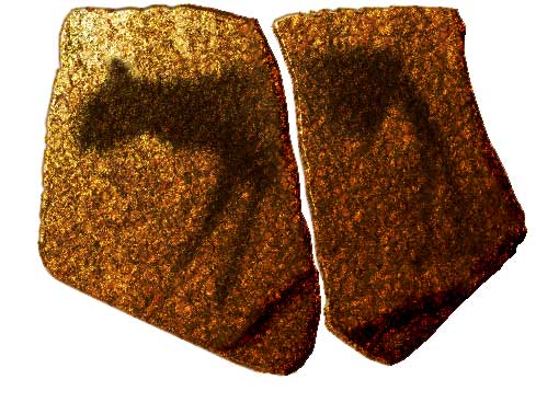 Therianthrope is featured in the earliest rock art of southern Africa - Apollo 11 cavem Namibia, 27000 years old