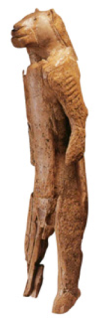 The Lion Man scultpure from the Swabian Alps in Germany is almost 32,000 years old